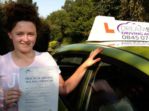 Tiffany C – Passed first time on 3rd September 2012