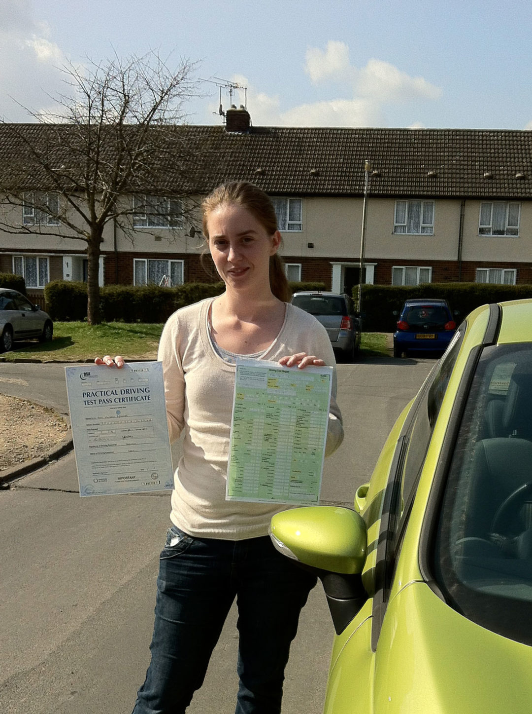 Amy S – Passed first time on 2nd April 2012