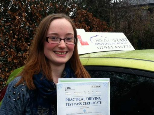Charlotte A – Passed first time on 13th February 2013