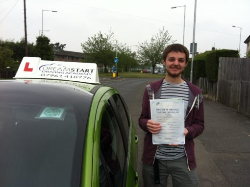 Jamie W – Passed first time on 20th June 2013