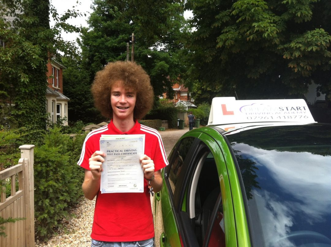 Jamie R – Passed first time on 29th July 2013