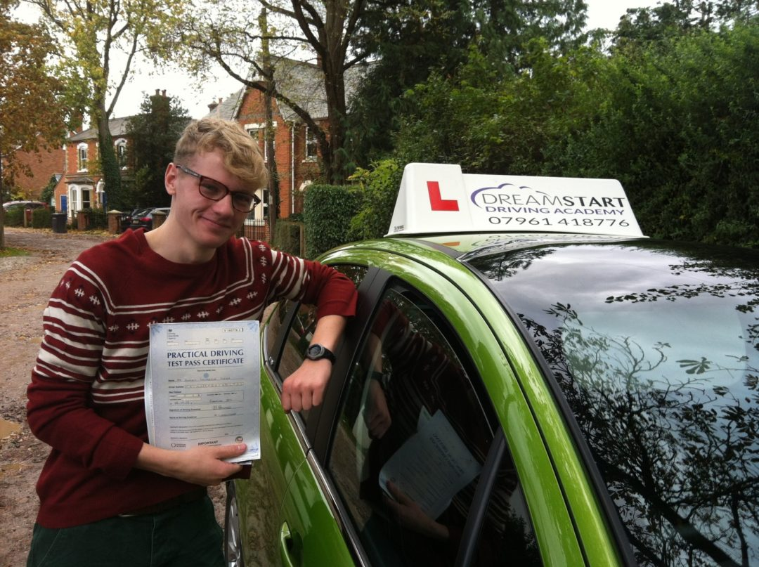 Dominic H – Passed first time on 28th October 2013