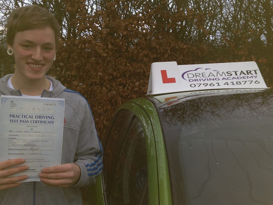 Keiran C – Passed first time on 28th January 2014