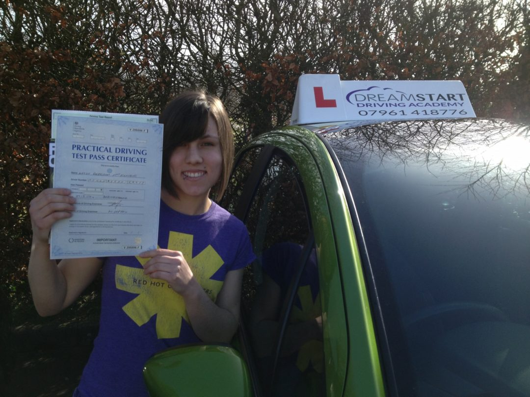 Rebecca M – Passed first time on 27th February 2014