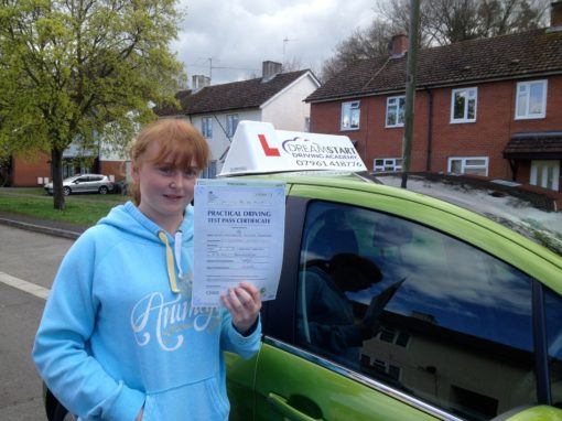 Michelle I – Passed first time on 8th April 2014