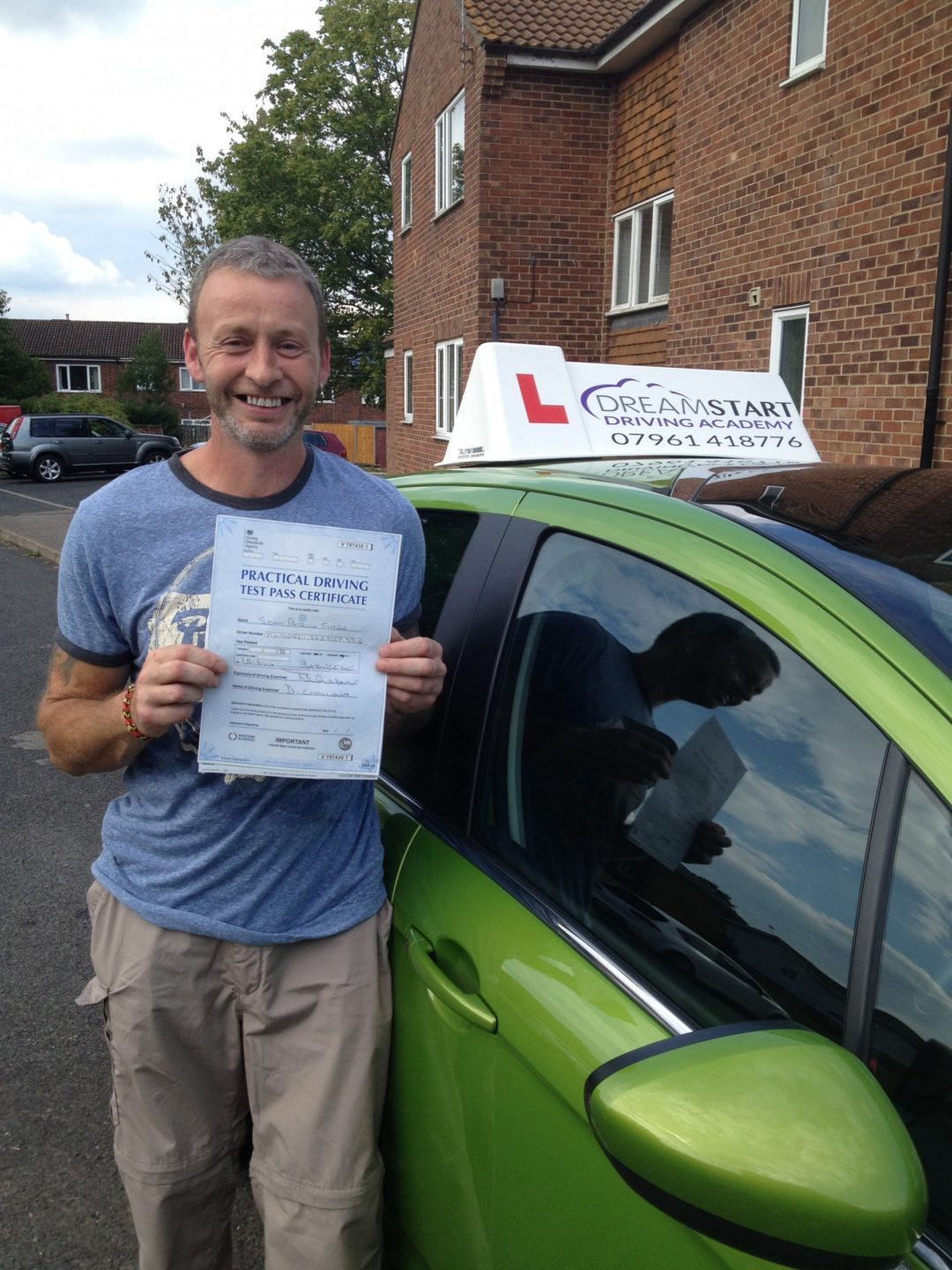 Sean F – Passed first time on 15th August 2014