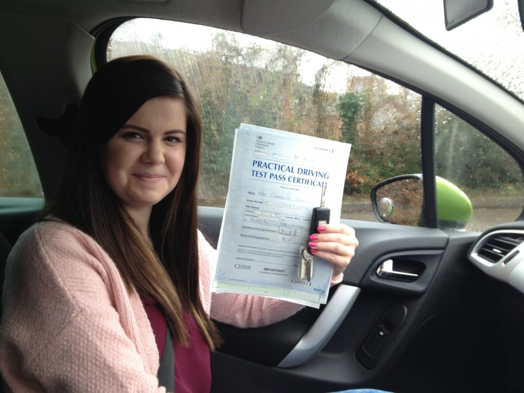 Charlotte G – Passed first time on 16th February 2015
