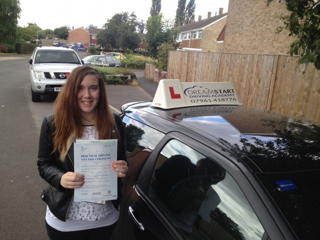 Sarah G – Passed 1st time on 22nd July 2015