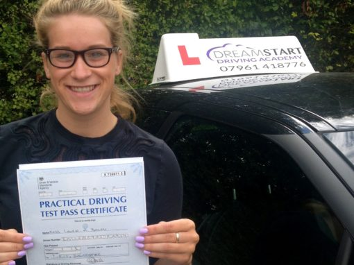 Laura B – Passed first time 7th August 2015
