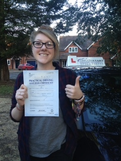 Vikki B – Passed 1st time on 9th February 2016