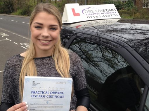 Bethanee S – Passed 1st time on 22nd April 2016