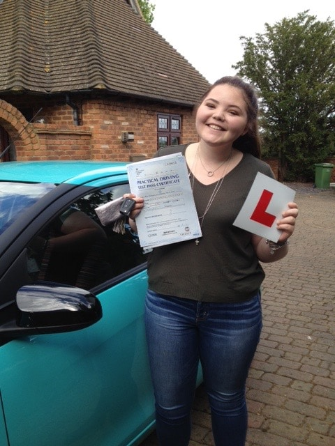 Scarlett M – Passed first time on 10th August 2016