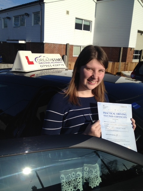 Rachel Thurley – Passed her test on 17th January 2017