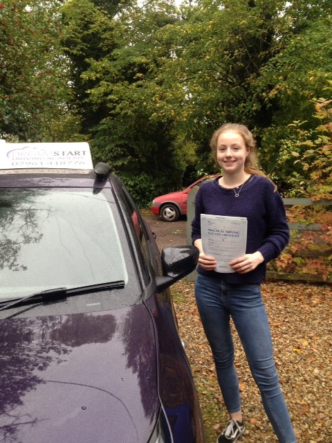 Ella M – Passed first time on 26th October 2017