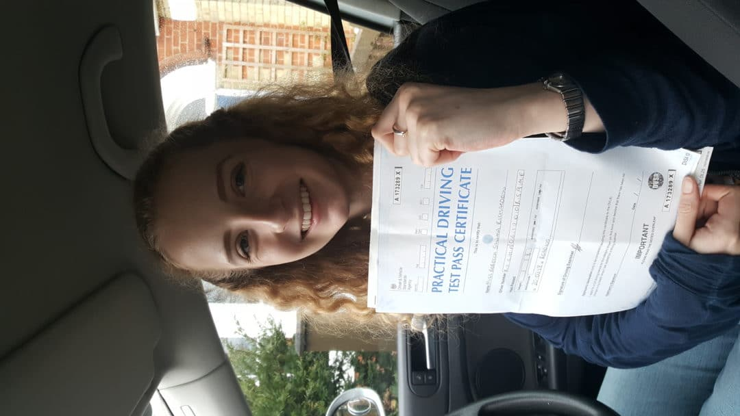 Becky R – Passed first time on 20th March 2018