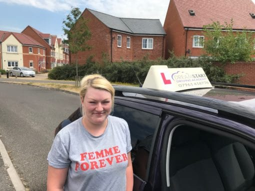 Kayleigh H – Passed first time on 3rd June 2018