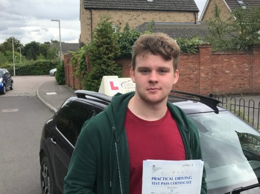 Sam K – Passed first time on 6th September 2018
