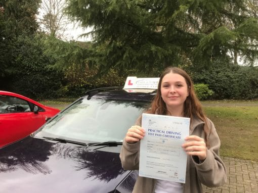 Lucia P – Passed first time on 20th November 2018