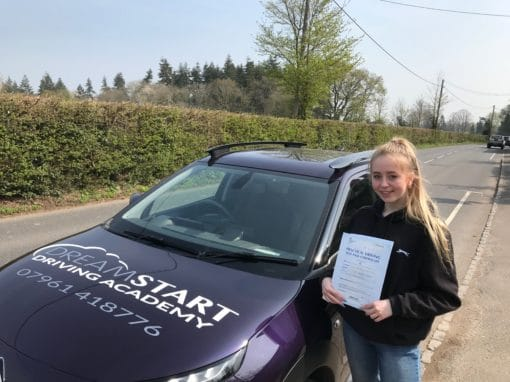 Rachel H – Passed first time on 17th April 2019