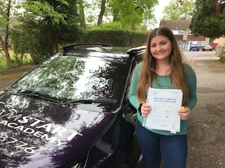 Grace D – Passed 1st time (with Dreamstart) on 1st May 2019